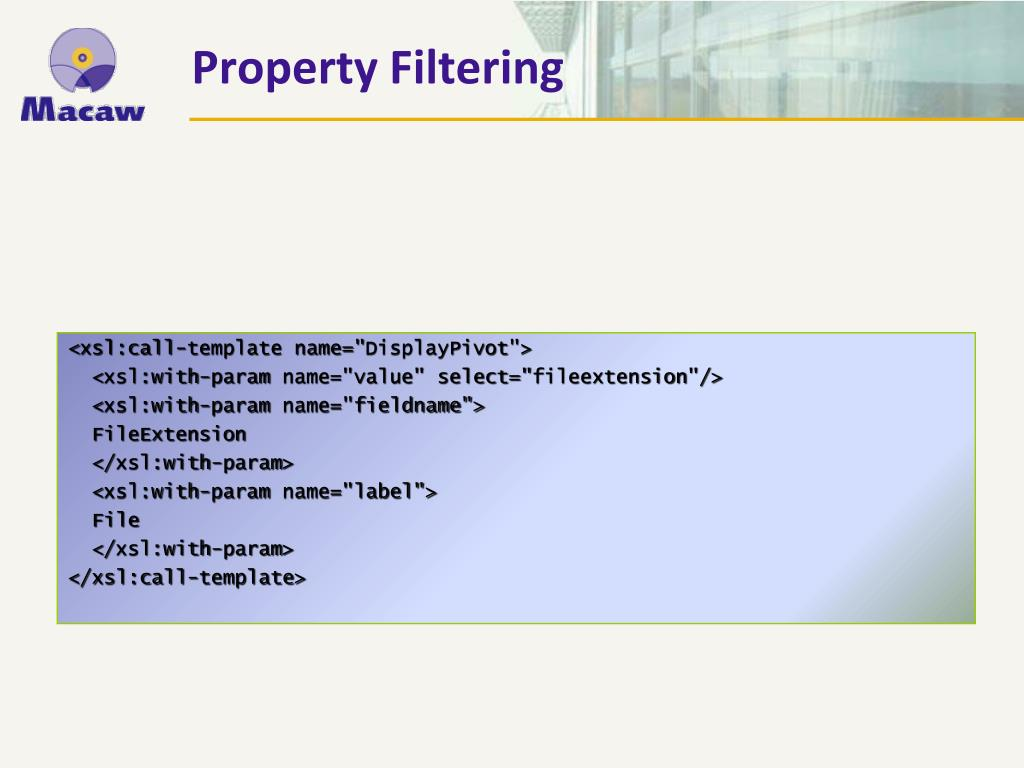 Property Filtering