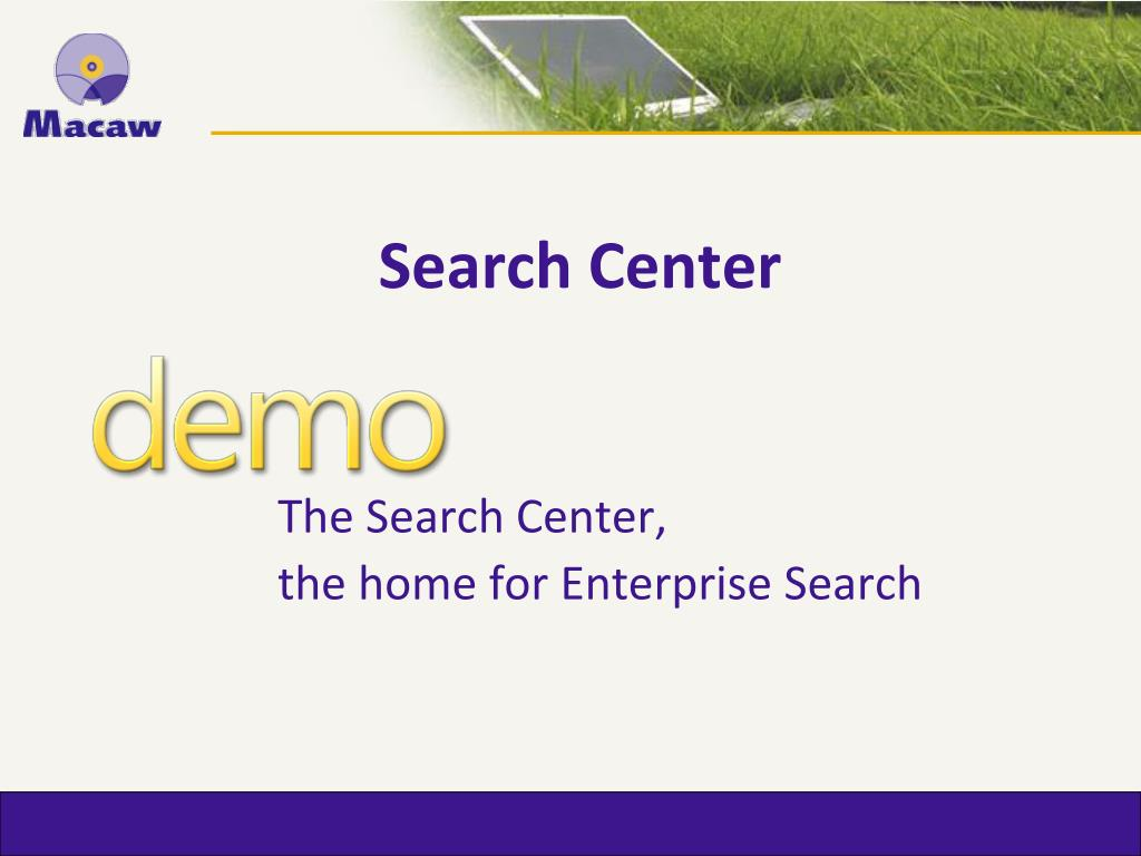 Search Center
