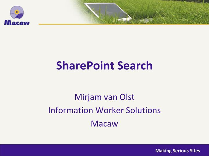 Sharepoint search