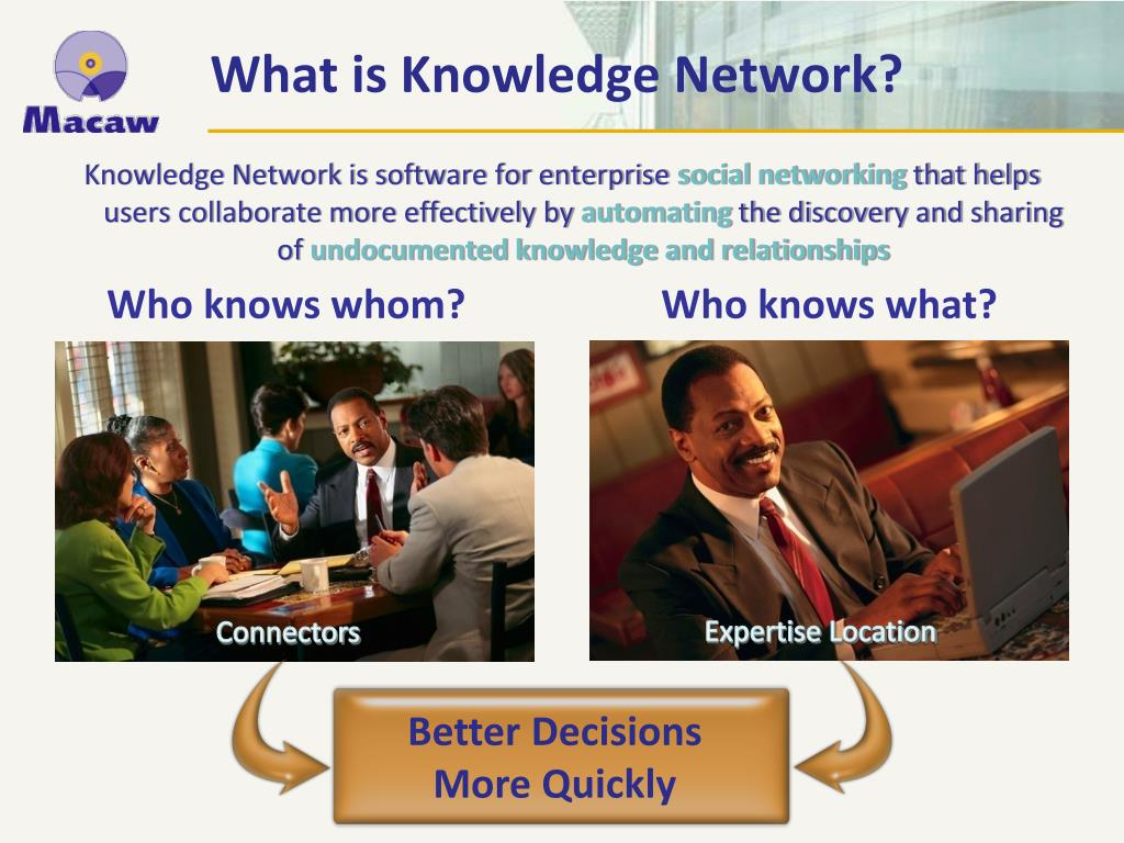 Knowledge Network is software for enterprise
