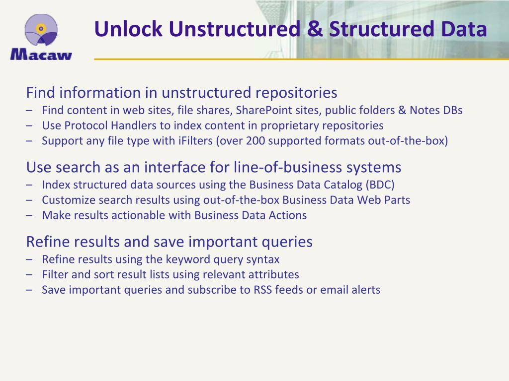 Unlock Unstructured & Structured Data