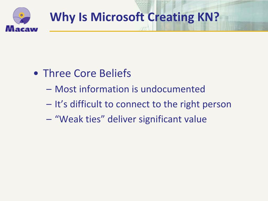 Why Is Microsoft Creating KN?