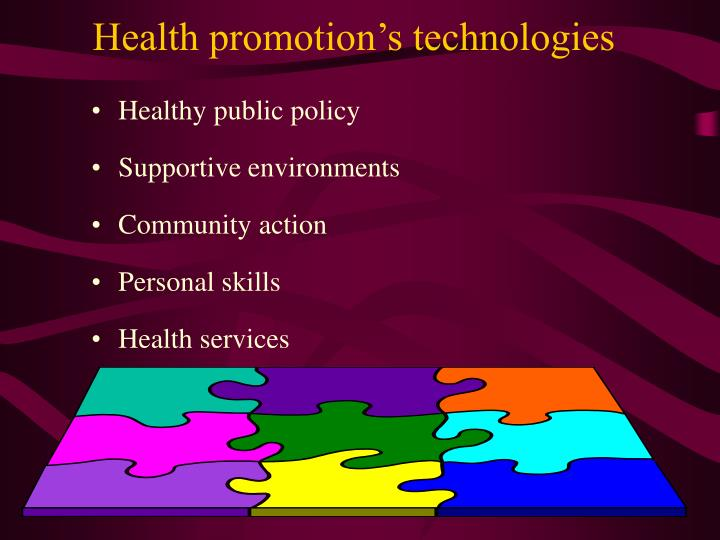 Health promotion's technologies