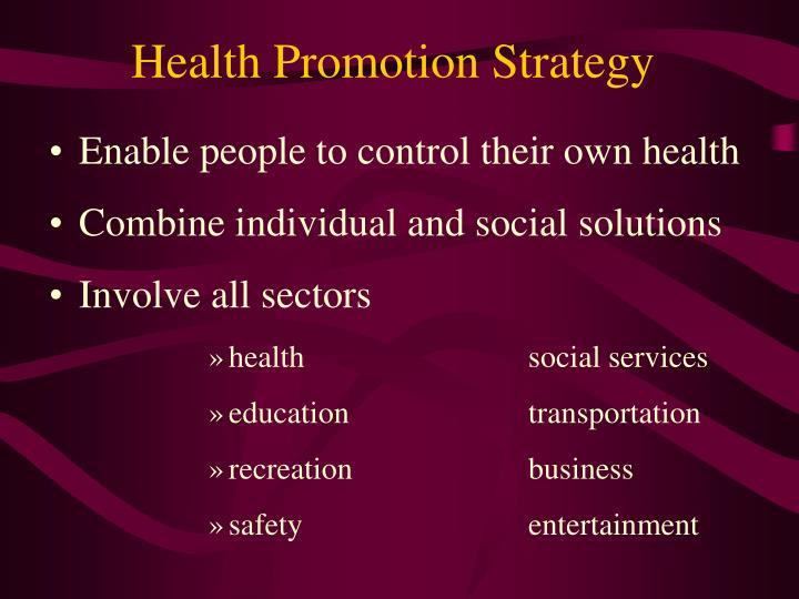 Health Promotion Strategy