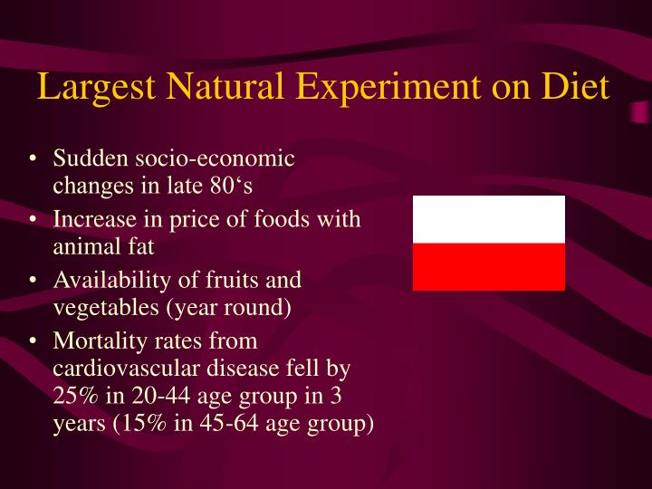 Largest Natural Experiment on Diet