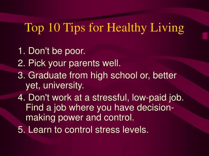 Top 10 Tips for Healthy Living