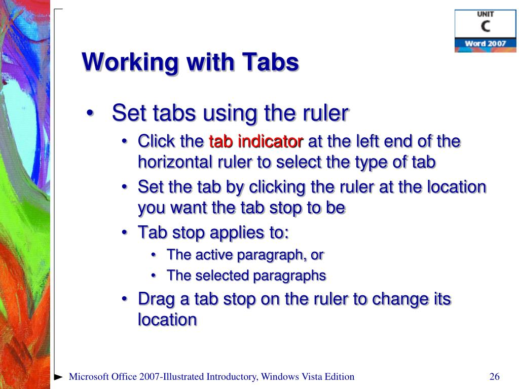 Working with Tabs