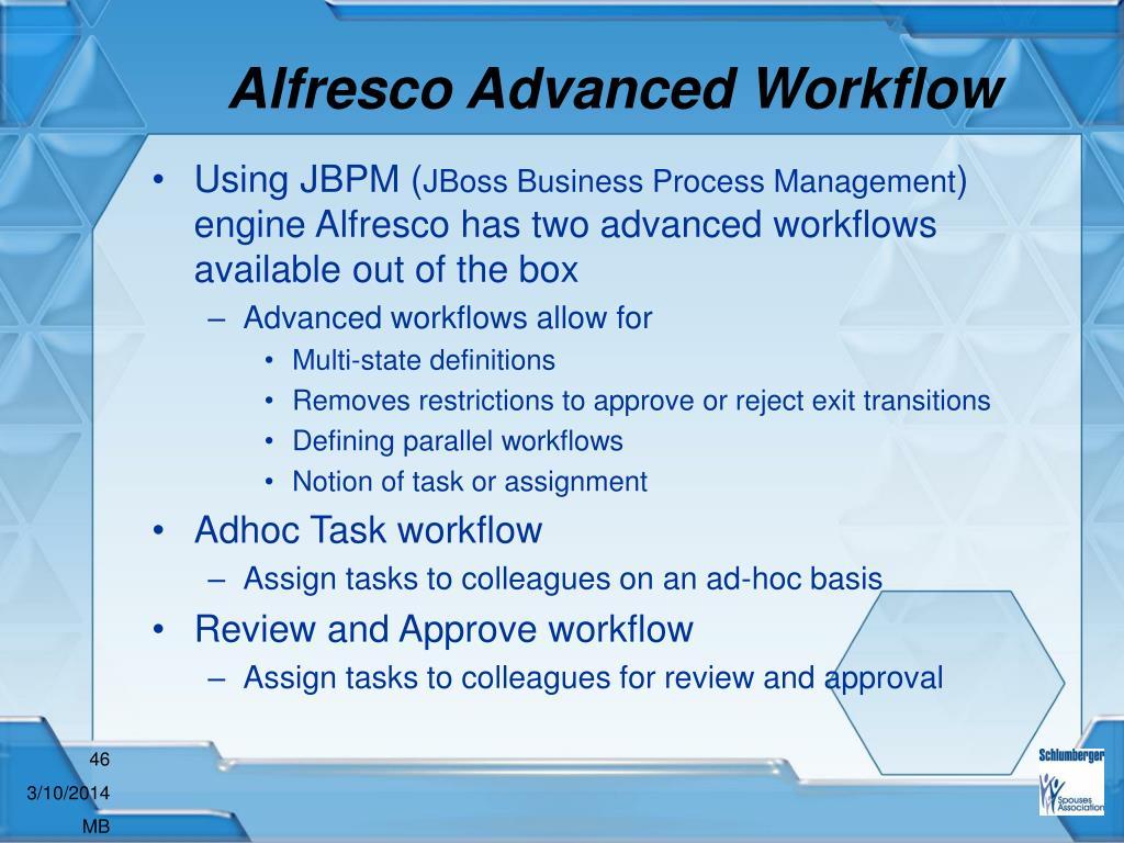 Alfresco Advanced Workflow