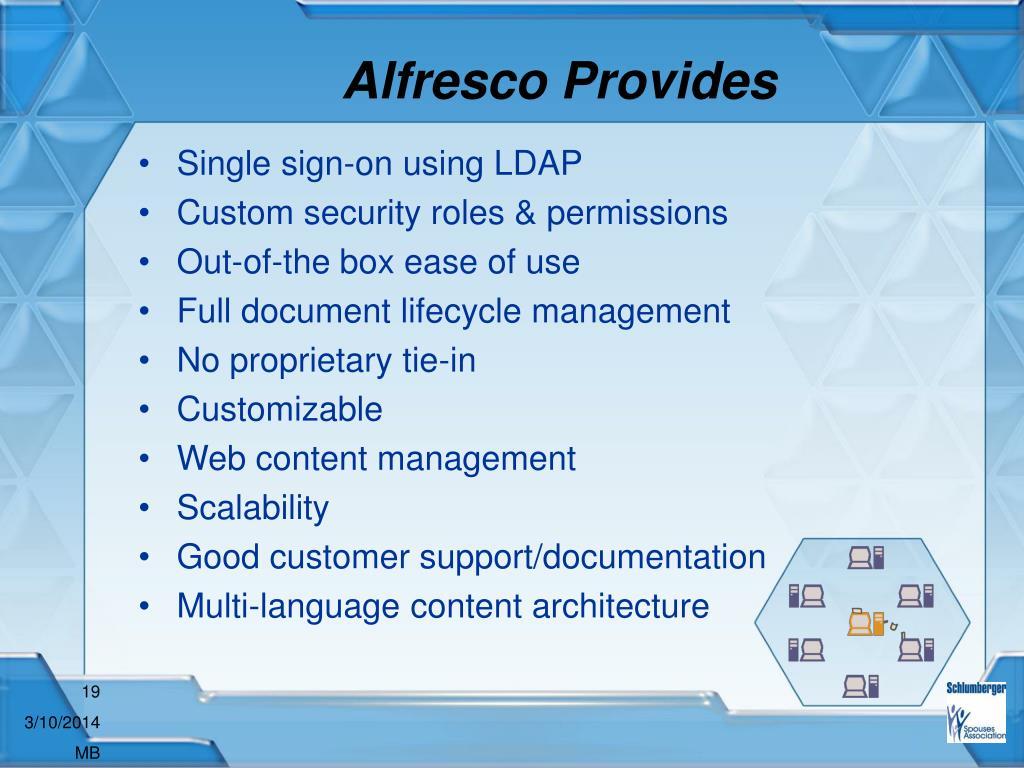 Alfresco Provides