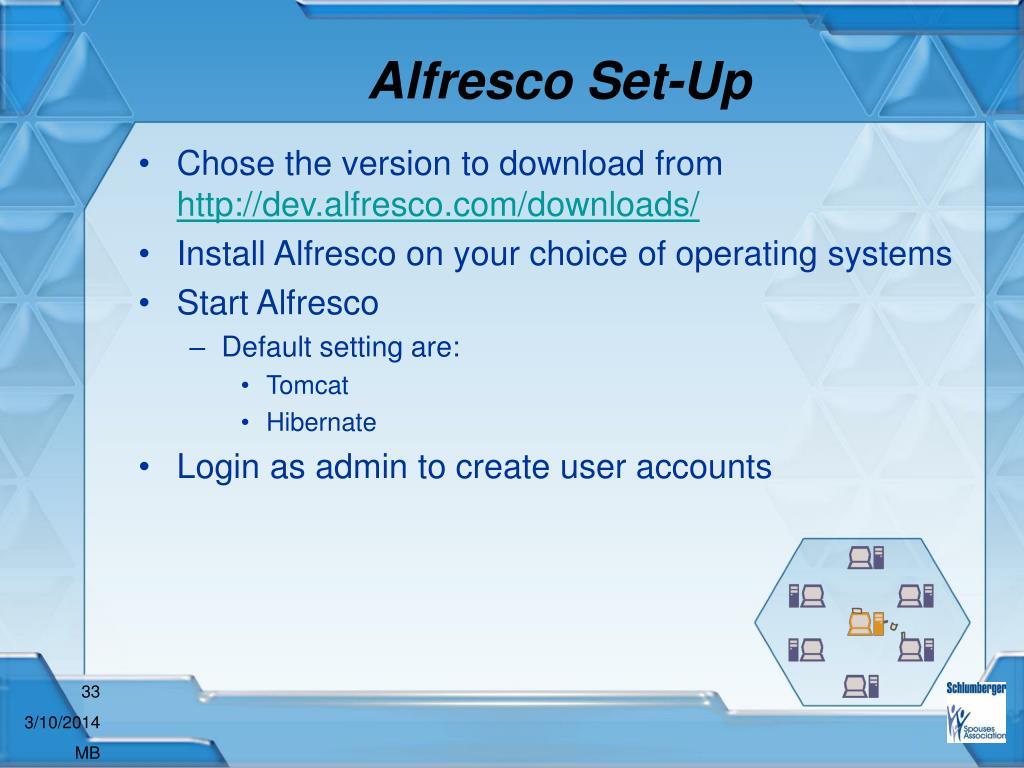 Alfresco Set-Up