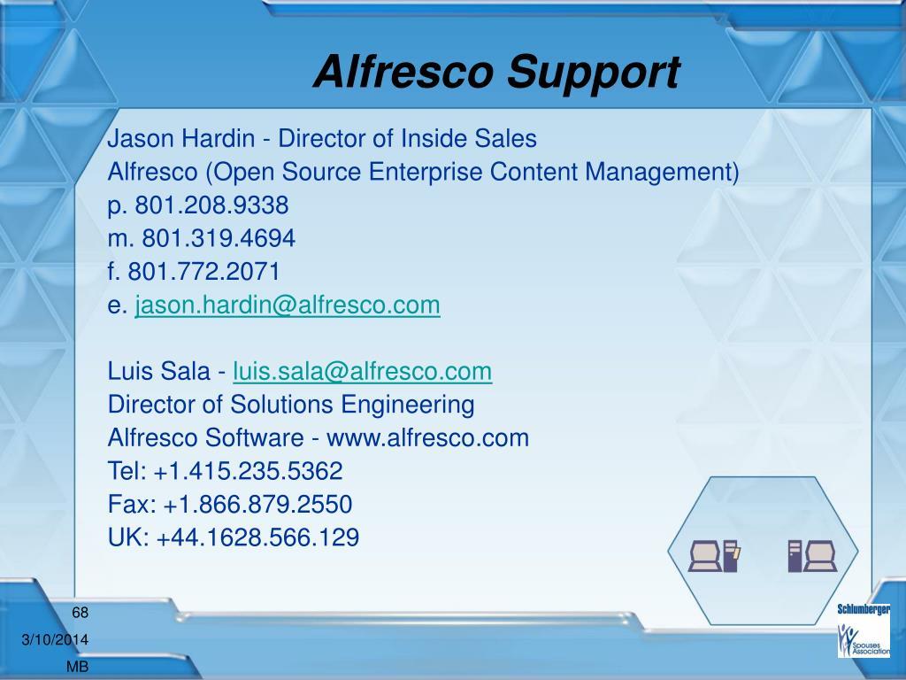 Alfresco Support