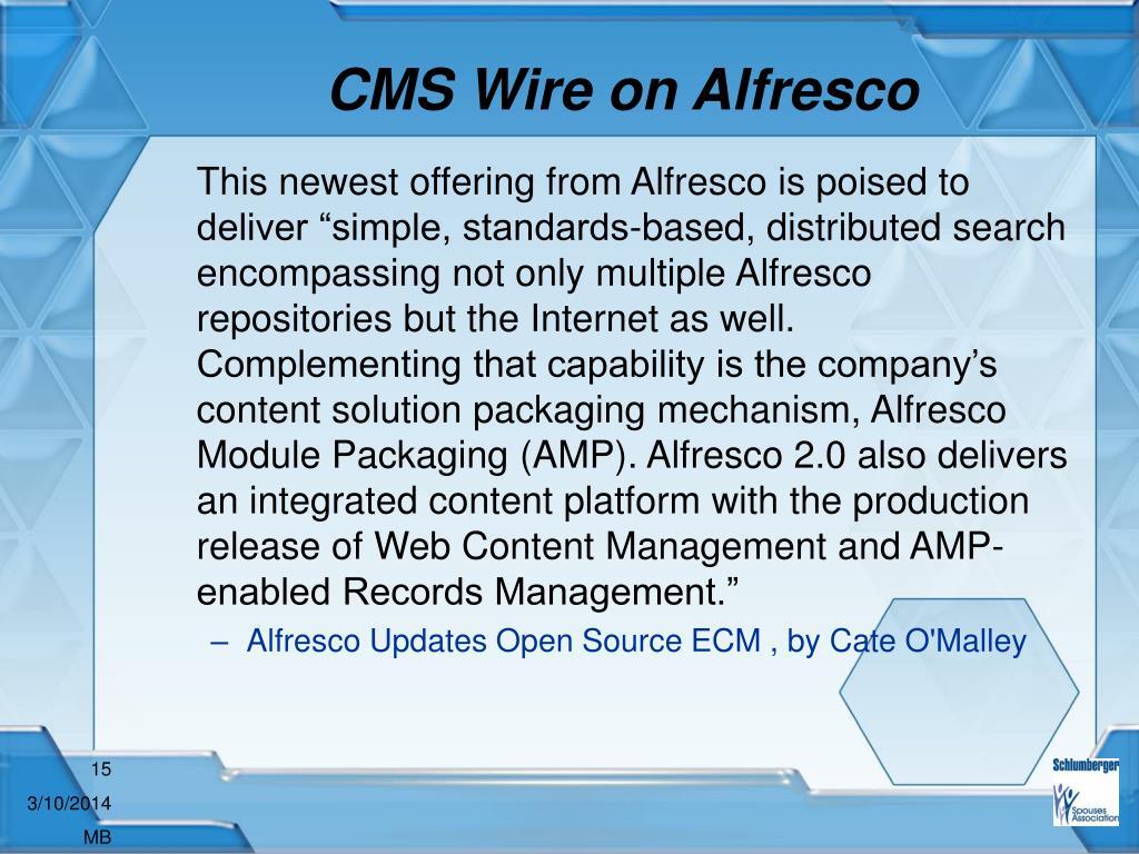 CMS Wire on Alfresco