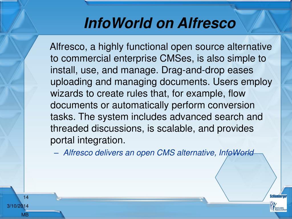 InfoWorld on Alfresco