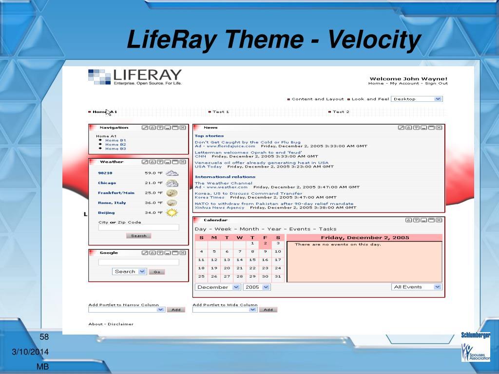 LifeRay Theme - Velocity