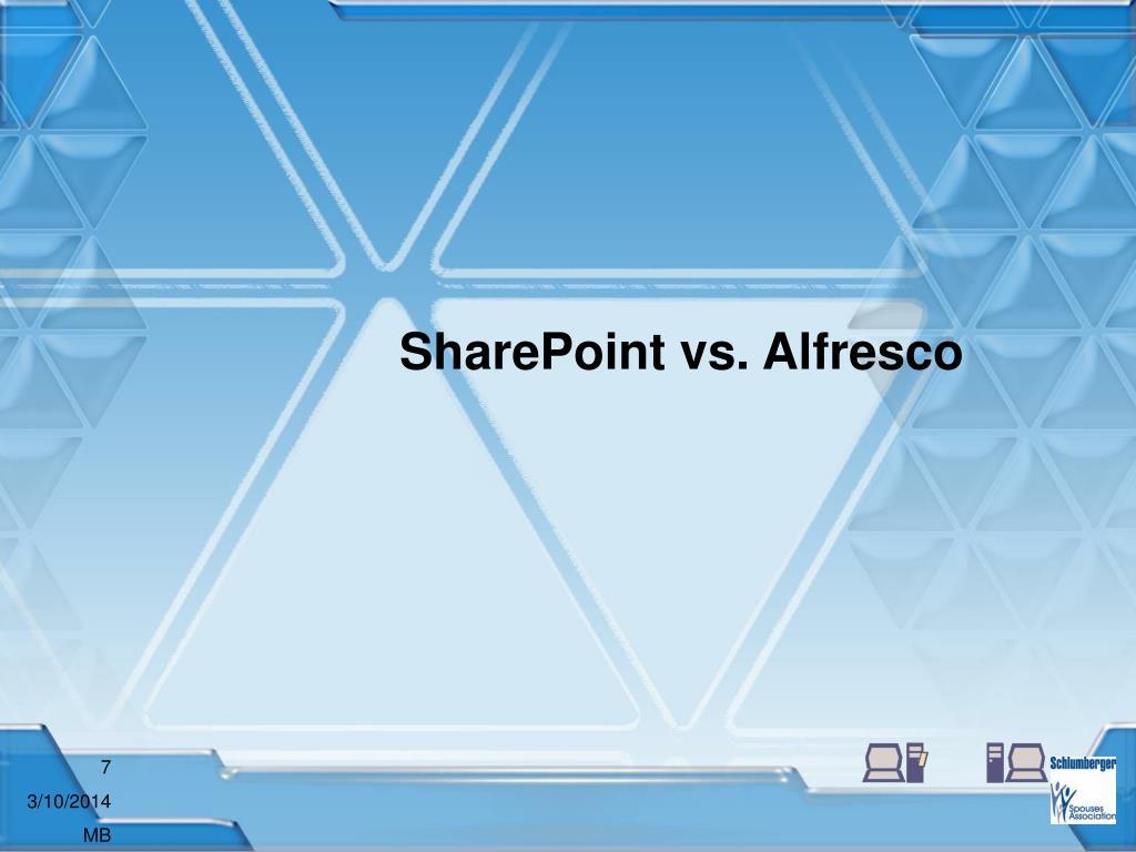 SharePoint vs. Alfresco