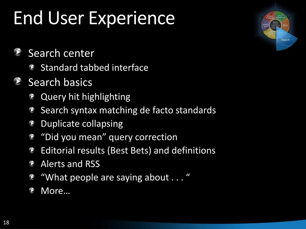 End User Experience