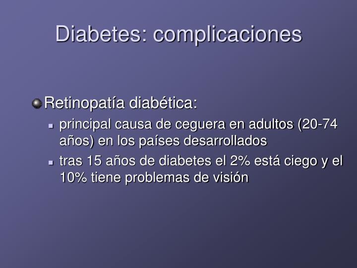 Diabetes: complicaciones