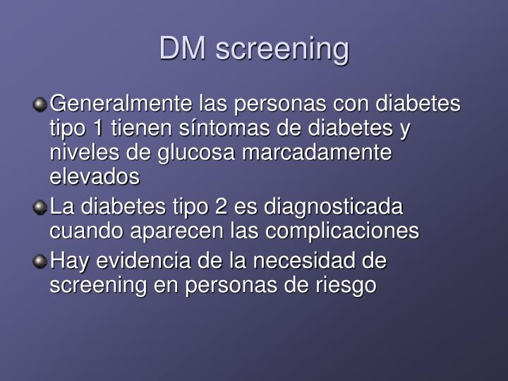 DM screening
