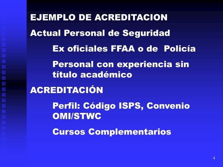 EJEMPLO DE ACREDITACION
