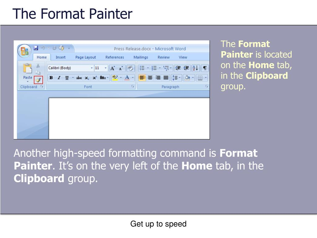 The Format Painter