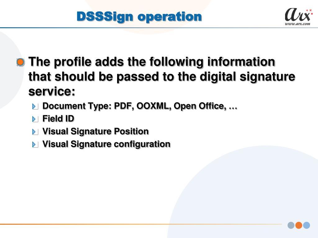 DSSSign operation
