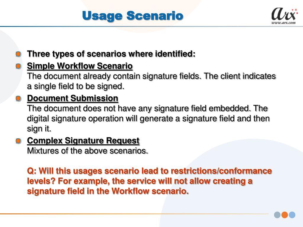 Usage Scenario