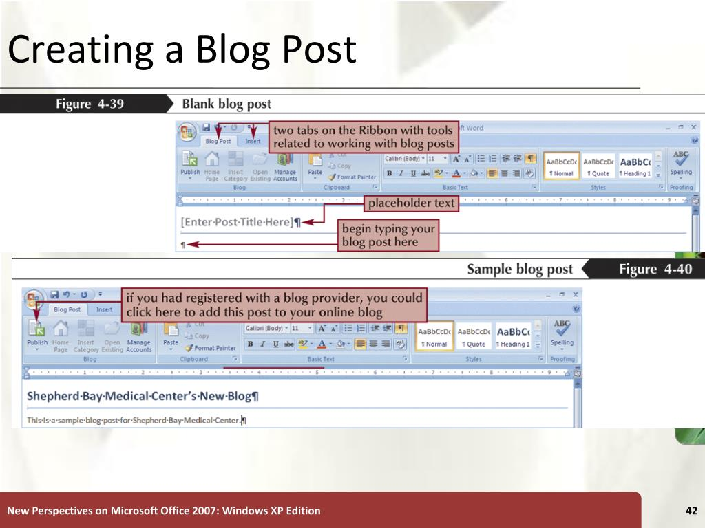 Creating a Blog Post
