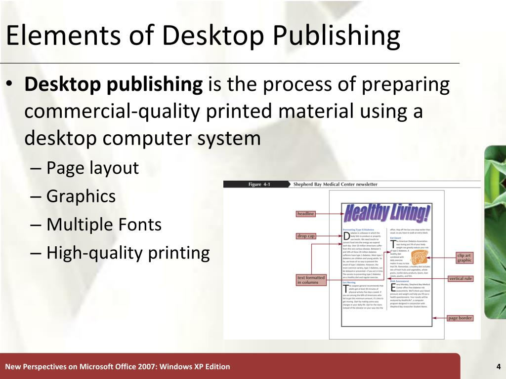 Elements of Desktop Publishing