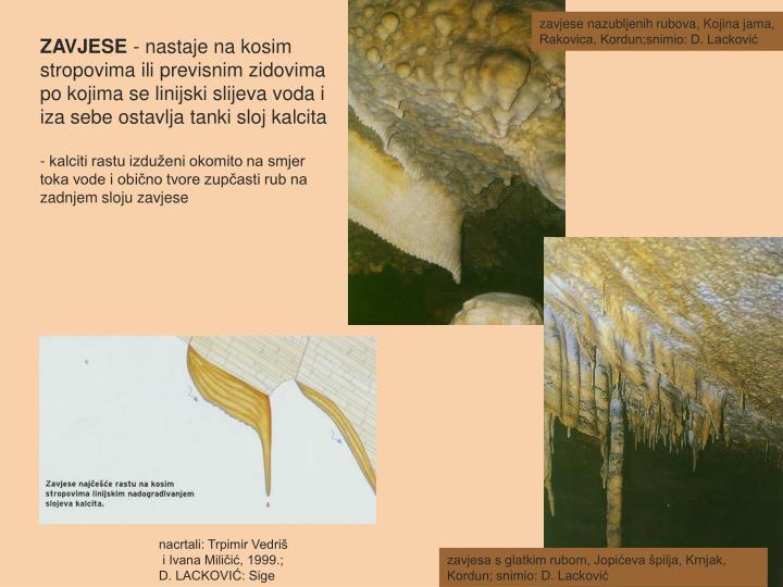 zavjese nazubljenih rubova, Kojina jama, Rakovica, Kordun;snimio: D. Lacković