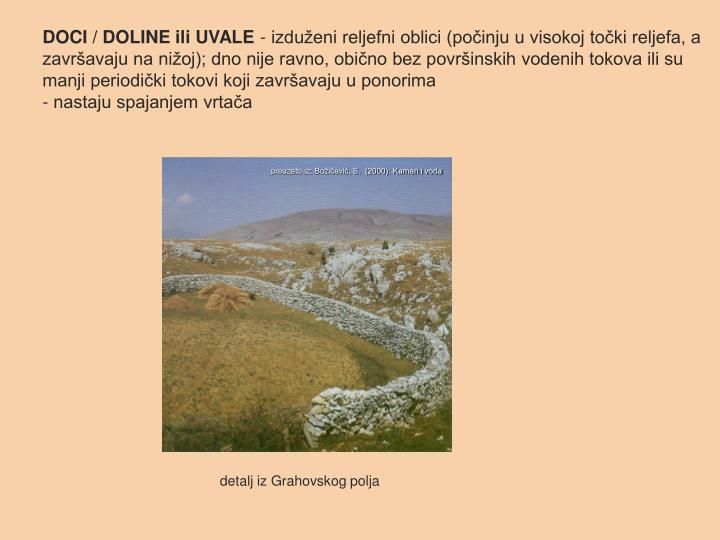 DOCI / DOLINE ili UVALE