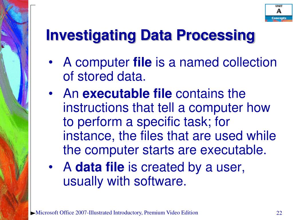 Investigating Data Processing