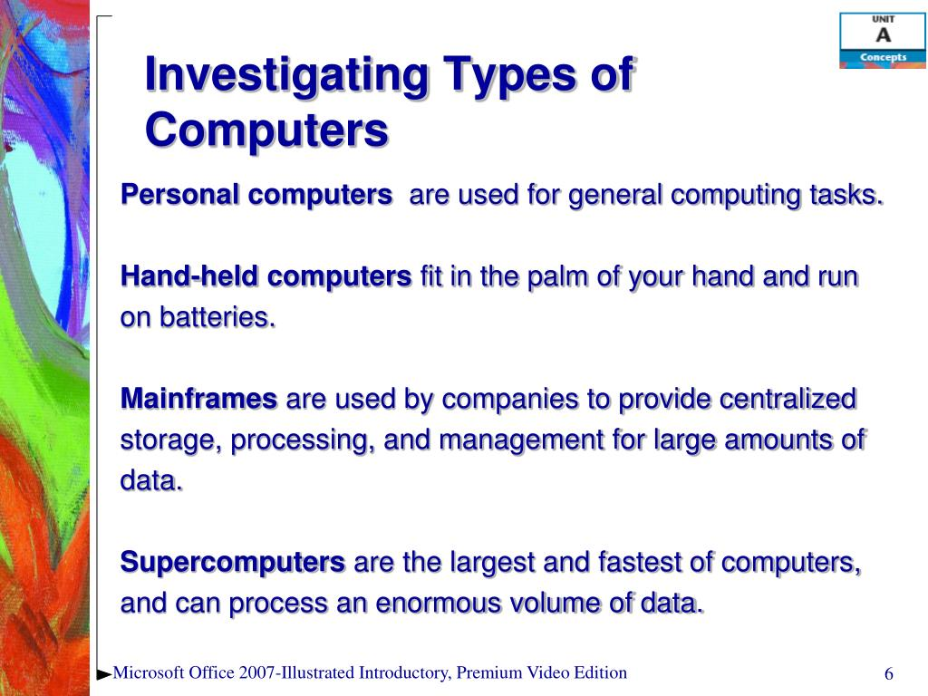 Investigating Types of Computers