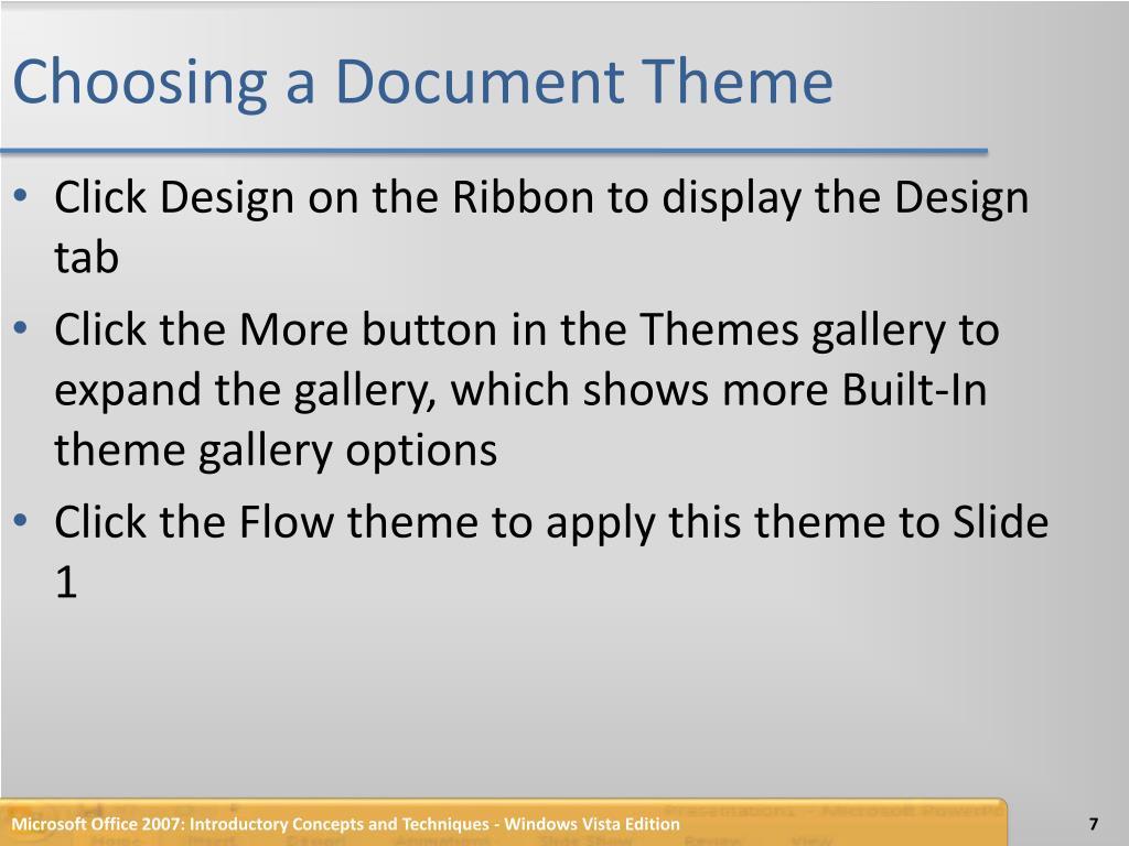 Choosing a Document Theme