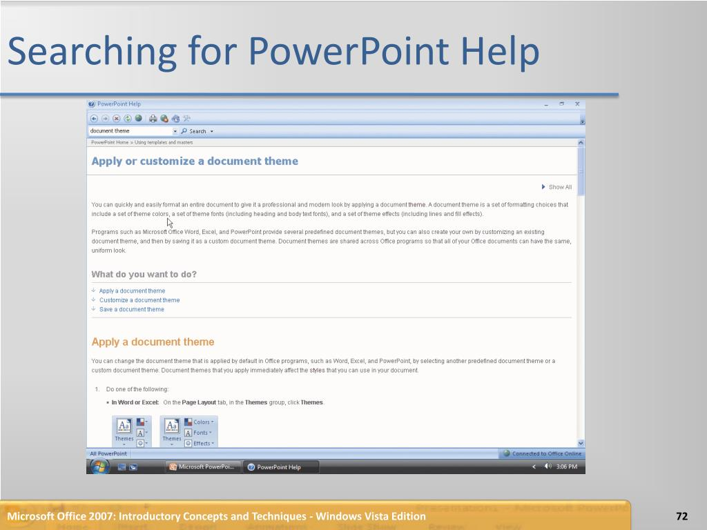 Searching for PowerPoint Help