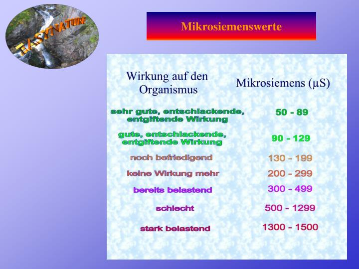 Mikrosiemenswerte