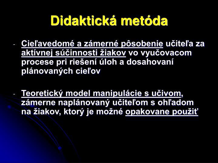 Didaktická metóda