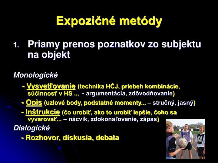 Expozičné metódy
