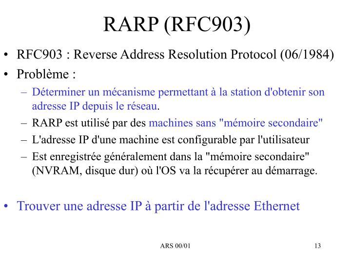RARP (RFC903)