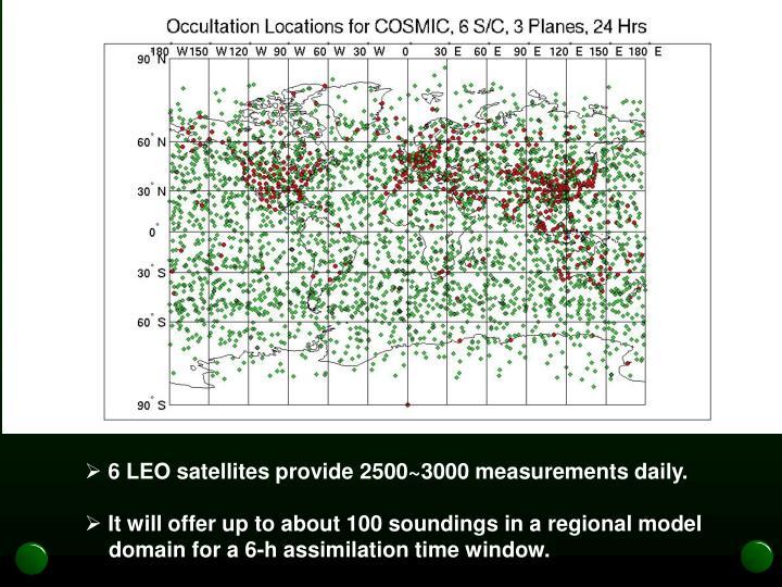 6 LEO satellites