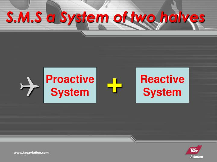 S.M.S a System of two halves