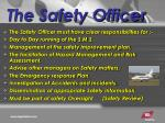 the safety officer