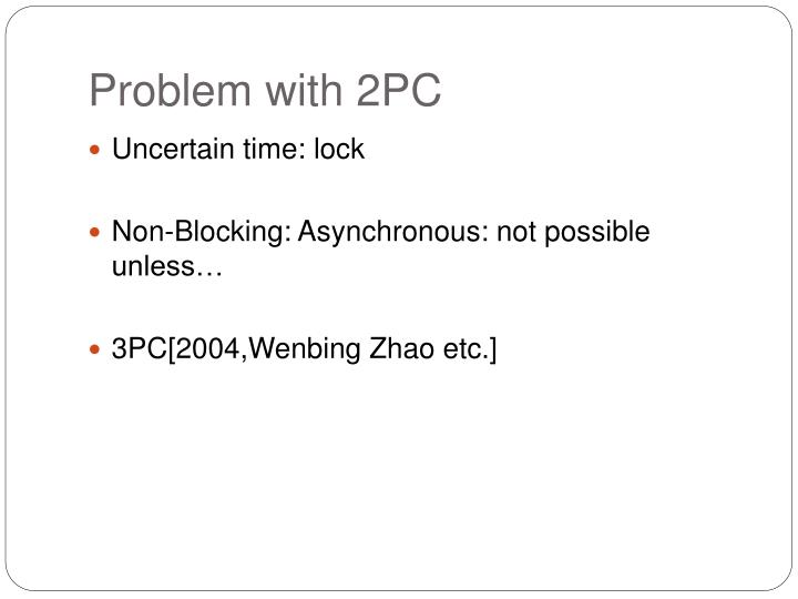 Problem with 2PC