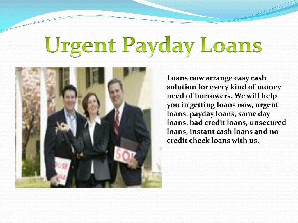 Urgent Payday Loans