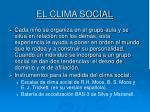 el clima social