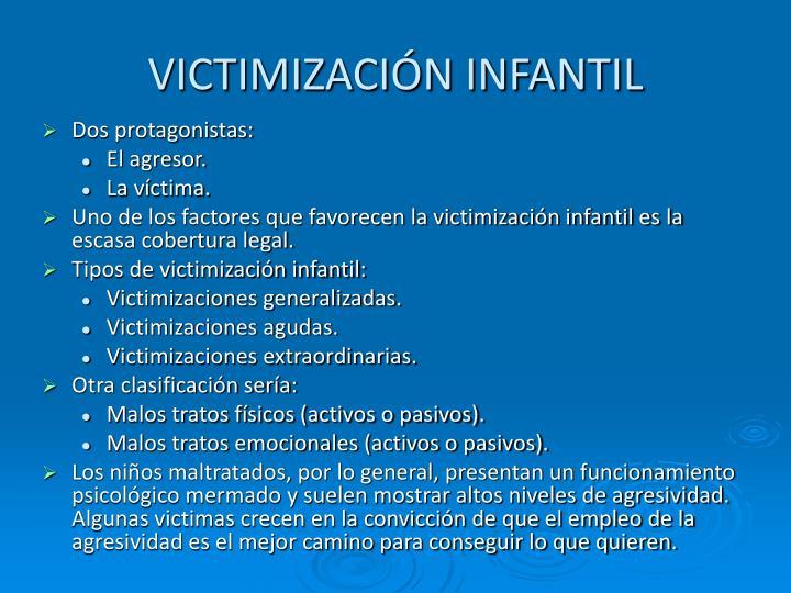 VICTIMIZACIÓN INFANTIL