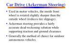 car drive ackerman steering