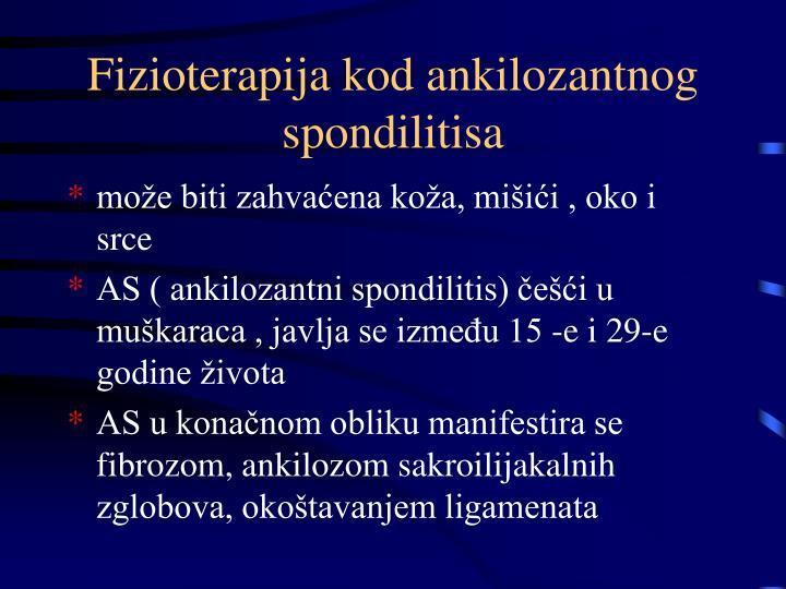 Fizioterapija kod ankilozantnog spondilitisa