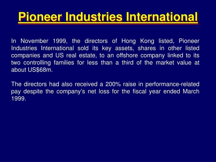 Pioneer Industries International