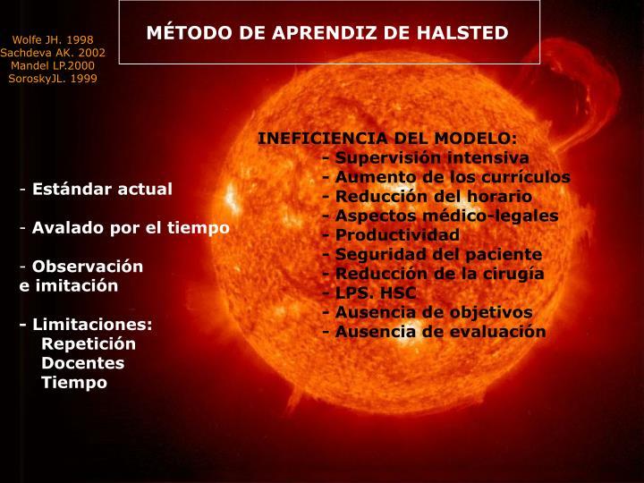 MÉTODO DE APRENDIZ DE HALSTED
