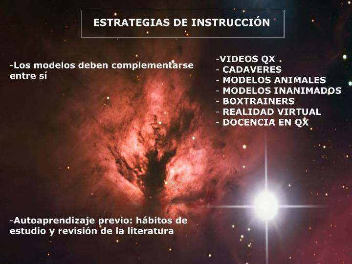 ESTRATEGIAS DE INSTRUCCIÓN